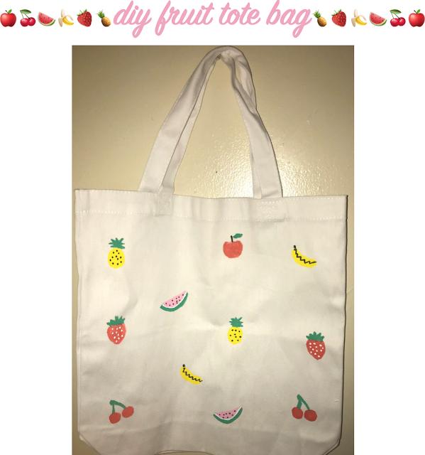 DIY Fruit Tote Bag