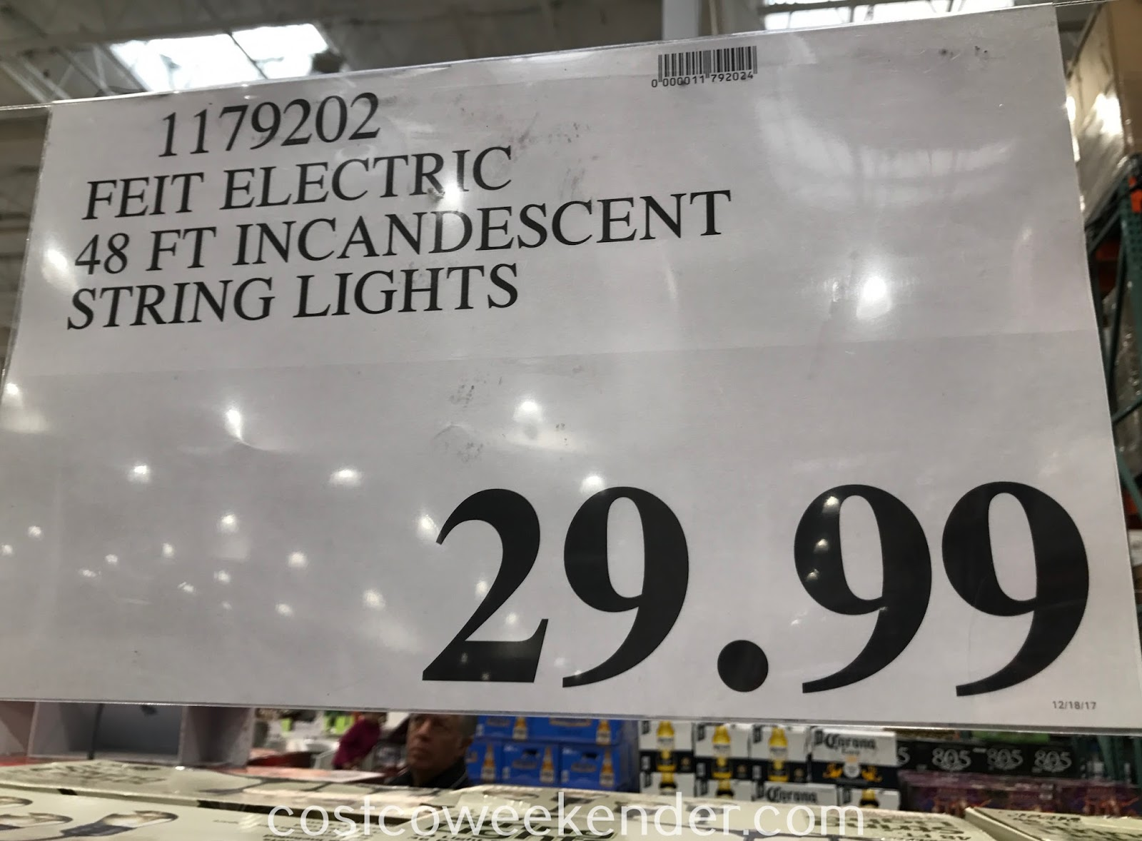 Deal for the Feit Electric 48ft Incandescent String Lights (Model No. 72115) at Costco
