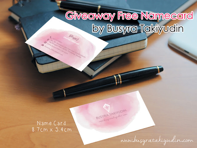 Giveaway name card
