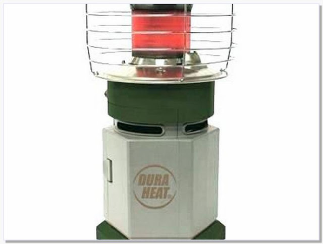 Portable indoor propane heater with thermostat
