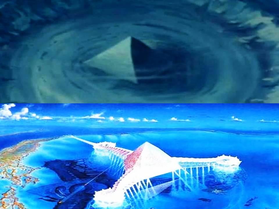Bermuda Triangle – Crystal Pyramids 'found beneath the ... |Pyramid Bermuda Triangle