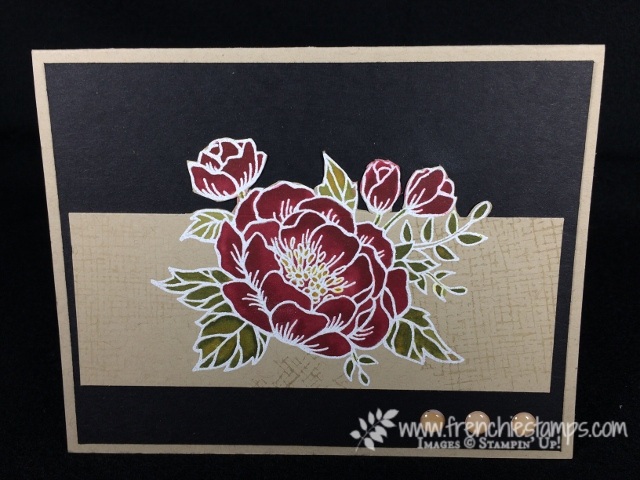 Birthday Blooms, Stamping Blends, Crumb Cake Card Stock color, Stampin'Up!, Frenchie Stamps,