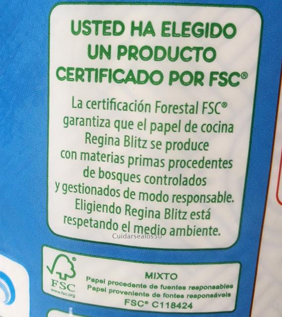 Certificado FSC Rollo de papel Regina Blitz