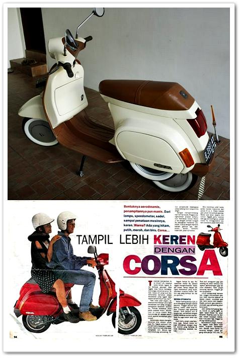 Sejarah Vespa Corsa 125 Sebagai Skuter Vespa Matik di Indonesia