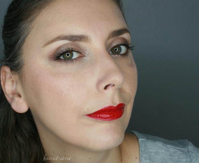 wearing dior ultra feminine lipstick fotd motd full face