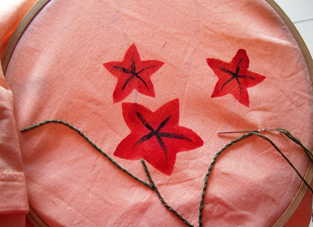 fabric painting, hand embroidery, embroidery pattern