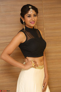 Roshni Prakash in a Sleeveless Crop Top and Long Cream Ethnic Skirt 060.JPG