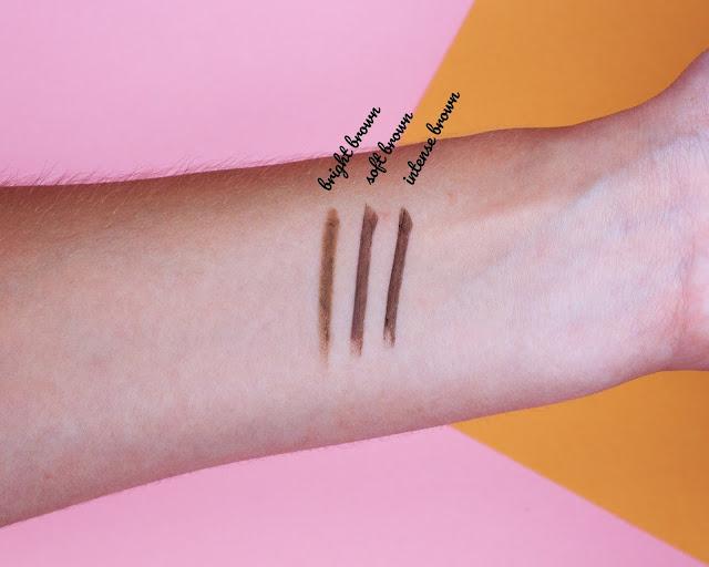 Viva la Diva Triangular eyebrow pencil review + swatches