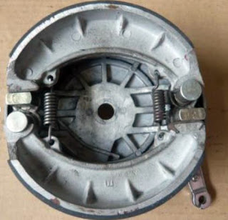 Interior of front brake plate.