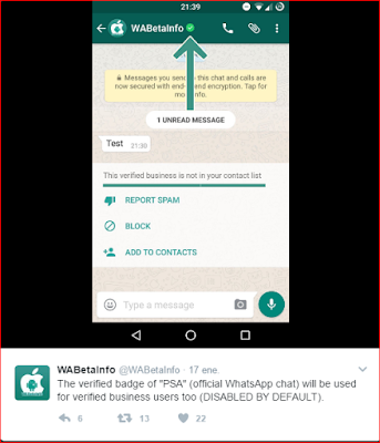 Verificacion de whatsapp