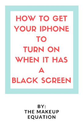 How to Get Your iphone To Turn On When it Has Black Screen
