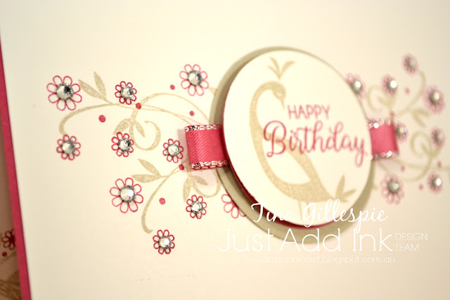 scissorspapercard, Stampin' Up!, Sale-A-Bration, Just Add Ink, Beautiful Peacock SAB, Beautiful Bouquet