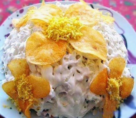 Рецепт салата орхидея фото