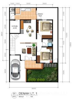 25+ Desain Gambar Rumah Minimalis 2 Kamar 2017