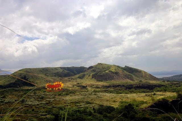 the twin craters of Mt. Tabaro