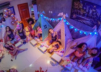 Festa do pijama das Bailarinas do Faustão