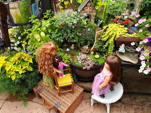 Broken Pot Fairy Garden, Raised container Gardening