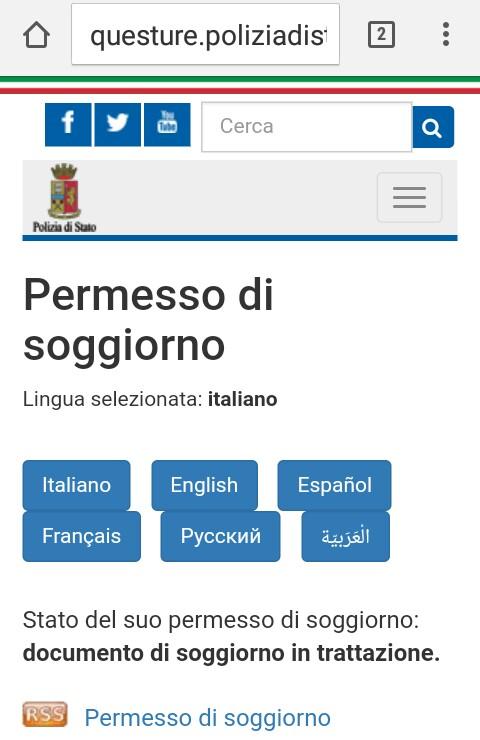 Permesso Di Soggiorno Pronto | Zdrojovykod