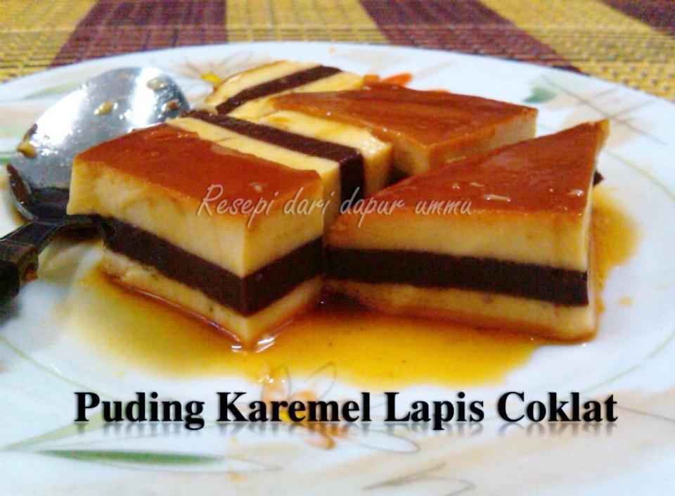 Resipi Puding Karamel Lapis Lat
