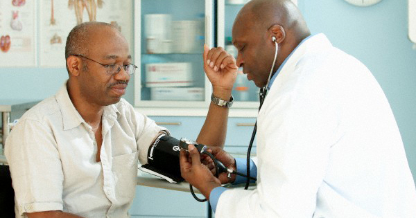 African American patient at doctor's office