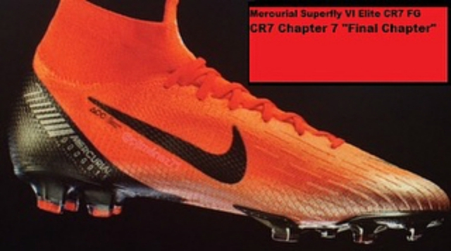 8811ca5b8 ... CR7  Final Chapter  Chapter 7 cleats. The images show that the main  color used on the boot is similar to the launch color of the Mercurial  Superfly VI
