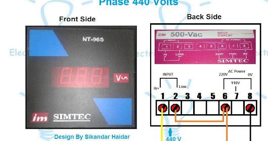 digital 3 phase voltmeter connection diagram for 440 volts testing 208 volt 3 phase motor wiring digital 3 phase voltmeter connection diagram for 440 volts testing