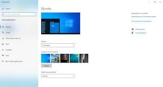 Impostazioni desktop