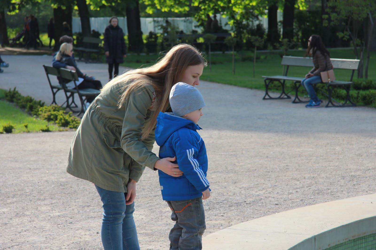 spacery z dzieckiem Łazienki Królewskie