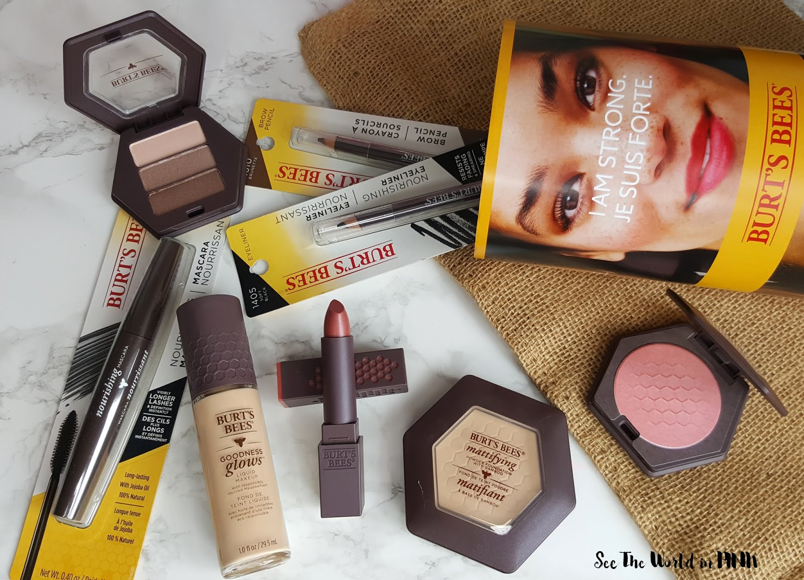Full Face of Burt's Bees Makeup Try-on and Review!