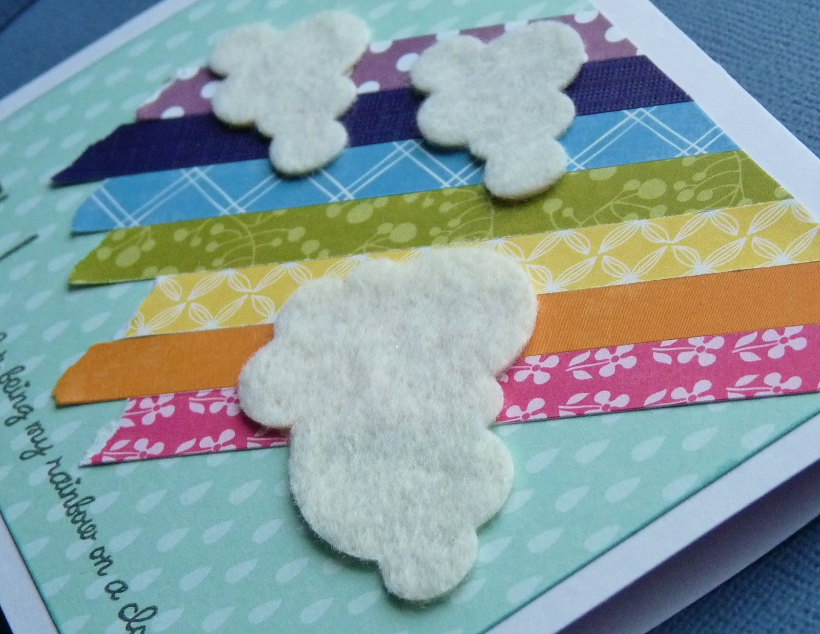 edb5bf9bfe Don t you just love the felt clouds  (dies are by PTI) I love cards that  have a textured detail on them