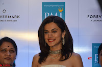 Tapsee Pannu looks Beautiful in White Sleeveless Gown Exclusive  Pics 02.jpg