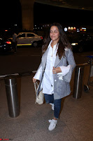 Neha Dhupia in Shirt Denim Spotted at Airport IMG 3531.JPG