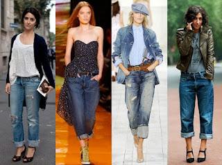 celana Boyfriend jeans cenderung longgar