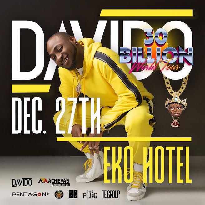 Davido Set To Crown The Succesful Year With '30 Billion Concert' In Lagos (See Here)