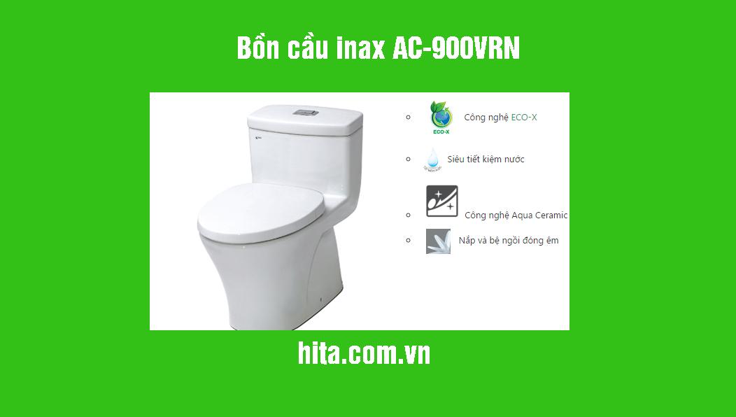 Giá, đặc điểm bồn cầu Inax AC-900VRN năm 2018