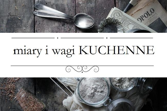 Domowy Zielnik Miary I Wagi W Kuchni