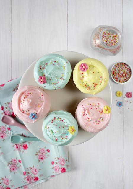 Cupcakes colores pastel