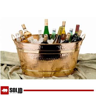 brass oval bucket