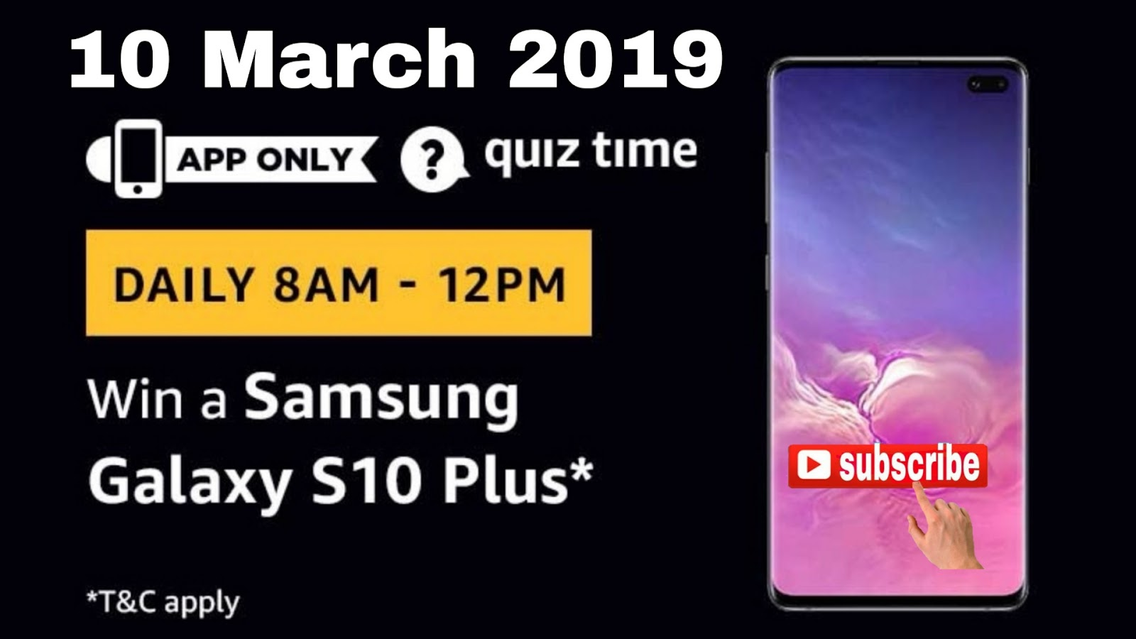 Quiz Answers Win Cash: Amazon Quiz Today | Samsung Galaxy