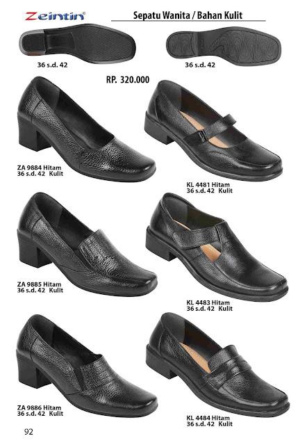 Zeintin Merk sepatu wanita ukuran 42 model pantofel bahan kulit yang sudah di akui kualitasnya