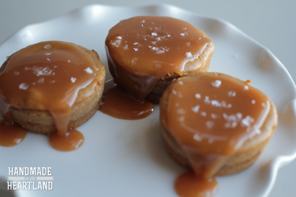 recipe for salted caramel mini cheesecakes