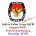 Daftar Calon Tetap (DCT) DPRD Kota Padang Panjang Untuk Pemilu Tahun 2019