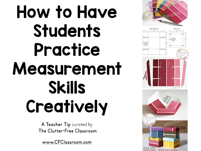 Are you looking for a way to have students practice measurement? This blog post from the Clutter-Free Classroom shows teachers an engaging way to teach measurement skills.