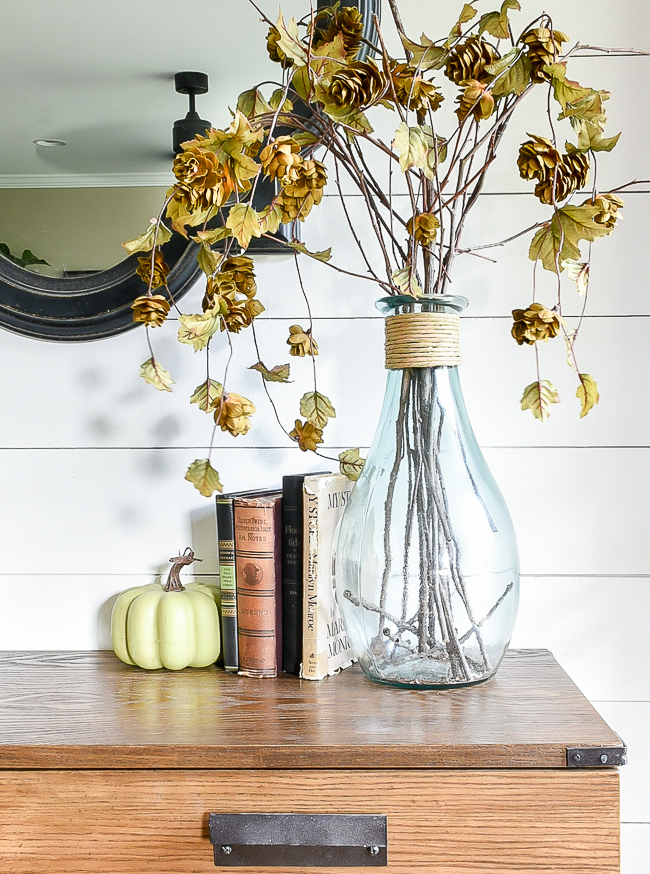 Fall decorated entry table