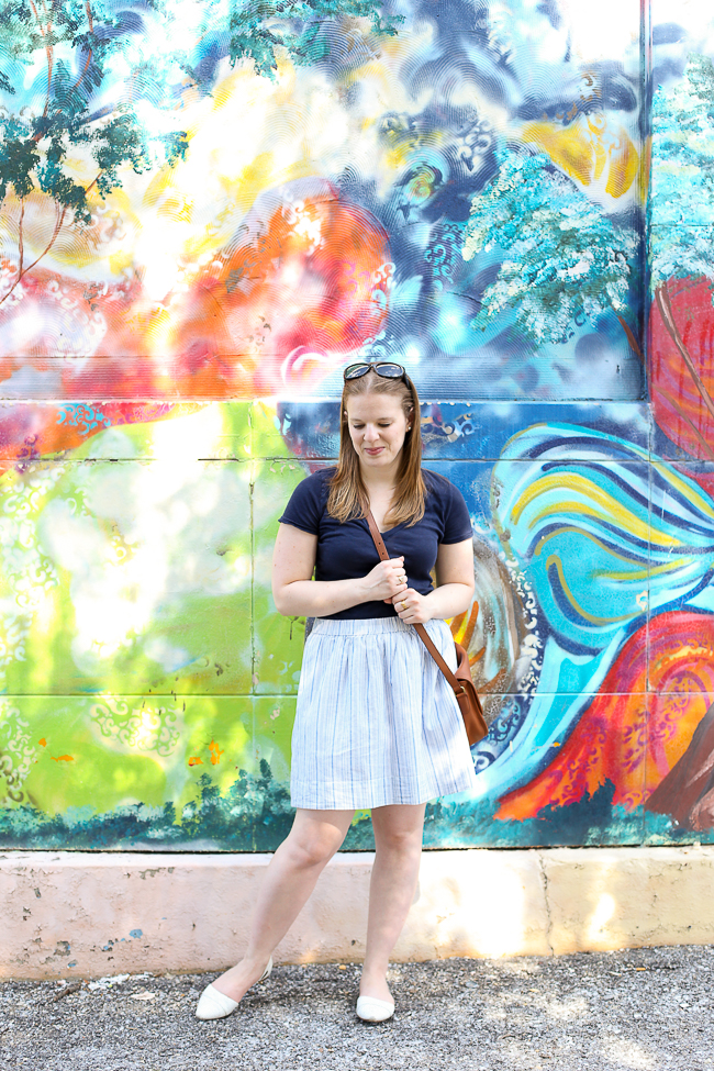 The Striped Skirt | Something Good, gap striped skirt