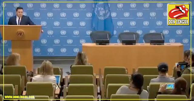 Al mediocre de Samuel Moncada lo dejaron hablando solo como la una en la ONU