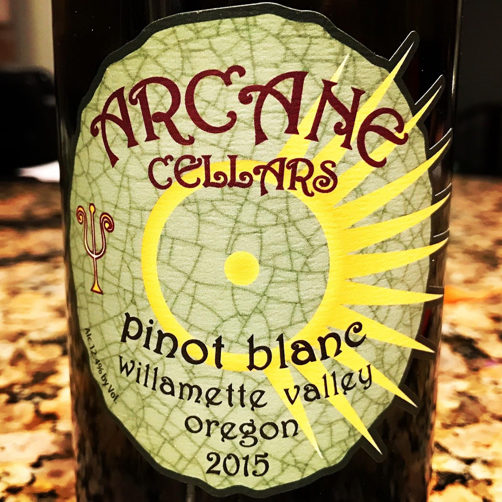 2015 Pinot Blanc produced u0026 bottled by Arcane Cellars (Salem Oregon).  sc 1 st  The Nittany Epicurean & 2015 Arcane Cellars Pinot Blanc | The Nittany Epicurean