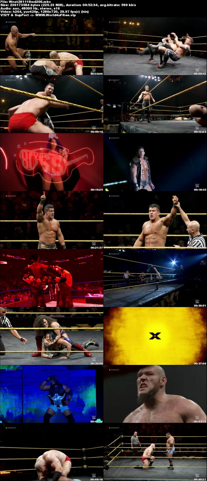 WWE NXT 21 November 2018 720p WEBRip 250MB x264 hollywood tv show wwe show WWE NXT 26 April 2017 200mb compressed small size free download or watch online at world4ufree.vip