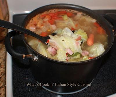 Ham  Cabbage Potato Tomato Soup