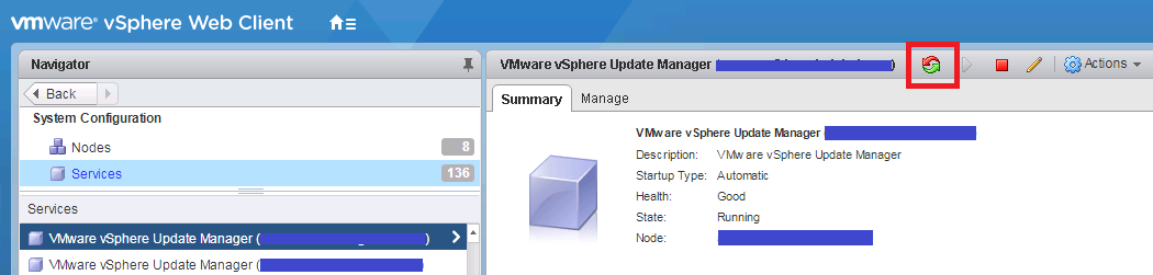 Ken Umemoto's vReality: VMWare Update Manager - interface